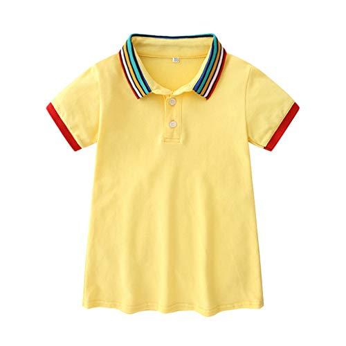 Dresses for Girls Pwtchenty T-Shirt Kleid Volltonfarbe Sport Kleid Prinzessin Kleid Mädchen Baby Sommerkleid Strandkleid Freizeitkleider