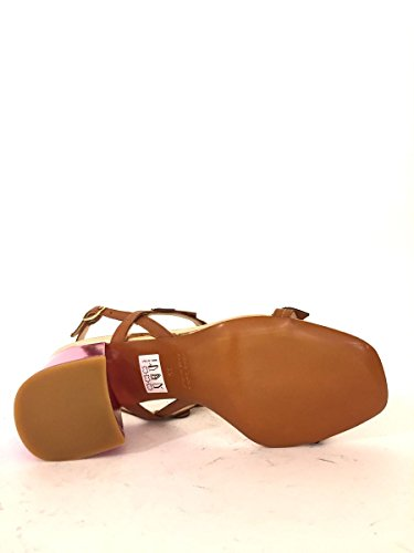 Sandali in pelle lucida AZ530-505 tacco medio multicolor MainApps Fuxia
