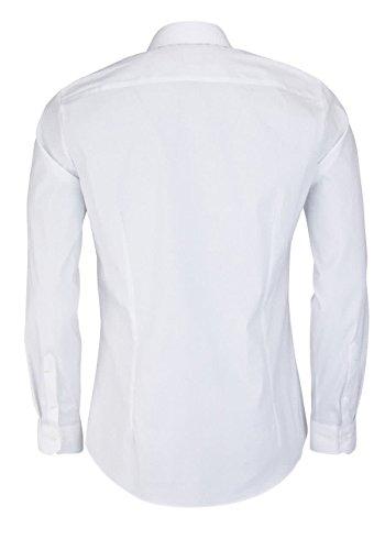 OLYMP Hemd No. Six Super Slim verdeckte Knopfleiste weiß 2504 14 00 Weiß
