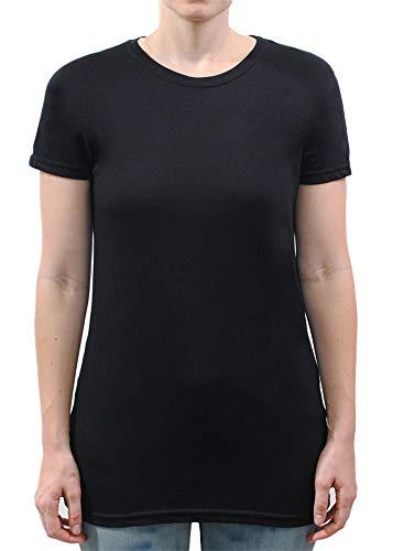 Have It Tall Tall Tall Damen T-Shirt aus weicher Mischung - Schwarz - Medium Hoch -
