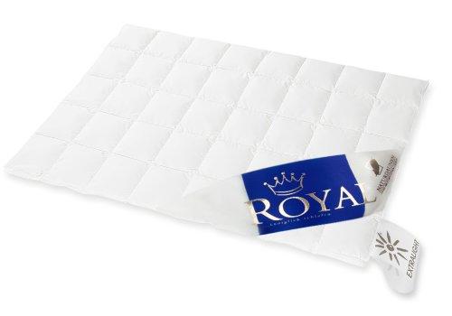 Hanskruchen Royal Luxus Daunendecke, Extra Leicht, 100{e2beaf978f56720b61f60d1de582ebb13a7554eb6357263910b34b747e55223d} Gänseflaum, 135 x 200 cm