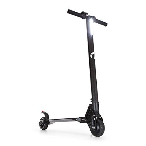 Takira Sc8ter Carbon • E-Scooter • Elektroroller • Kinder Roller • 250 Watt Leistung • Elektro-Motor • 22 km/h Höchstgeschwindigkeit • 2 Bremsen • Schnellladegerät • 28 km Reichweite • schwarz