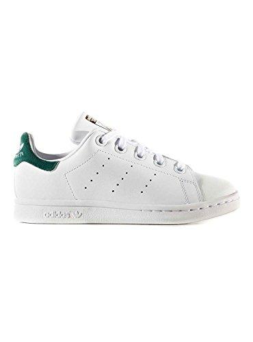 adidas Stan Smith C, Chaussures de sport mixte enfant - blanc - Blanc (Ftwbla / Ftwbla / Veruni), 32 EU