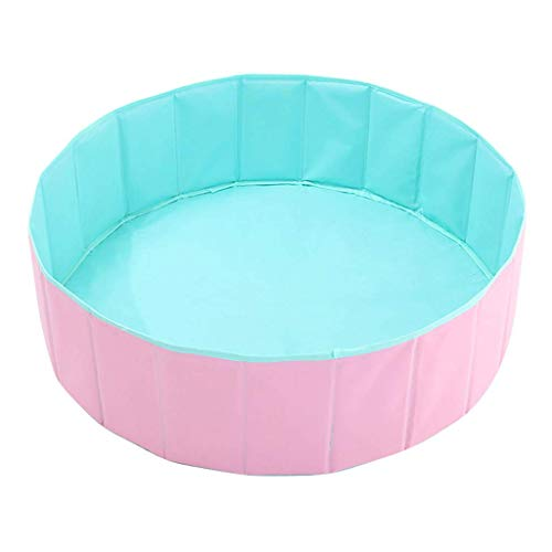 MWPO Kinder Runde Bällebad, Premium handgemachte Kiddie Balls Pool, faltbar, tragbar, Indoor Outdoor Kindergarten Baby Laufstall, Spielen Spielzeug für Kinder Kleinkind Kleinkind (Pink) -