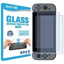 Tech BS gehärtetem Glas Displayschutzfolie für Nintendo Switch 2017-Full HD Klarheit (2Pack)