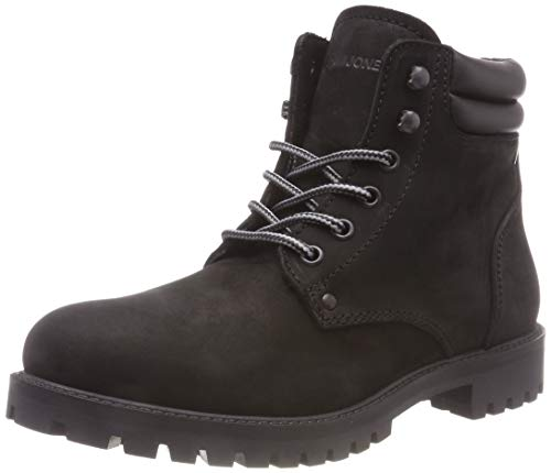 JACK & JONES Jfwstoke Nubuck Boot Mono Black Noos, Botas Clasicas para Hombre, Negro, 41 EU