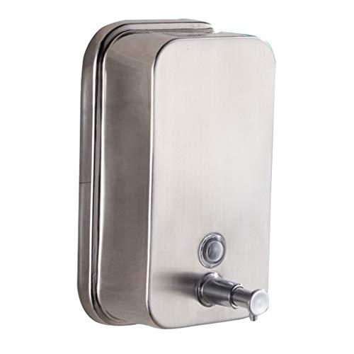 35 Oz Lotion (GWM Seifenspender Seifenspender Edelstahl mit manueller Wandhalterung Perfekt für die Küche oder das Badezimmer 1000ml / 35oz Silber, 12x20,5x6,8 cm)