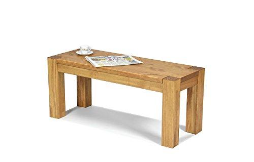 Massivholz Sitzbank (Sitzbank ,,Rio Bonito,, 80x38cm, Bank Massivholz Pinie, geölt und gewachst, Farbton Honig hell, Optional: passende Tische)