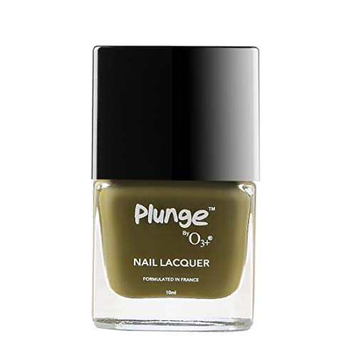 O3+ Plunge Nail Paint Polish Lacquer Colour (10 ML, Green)