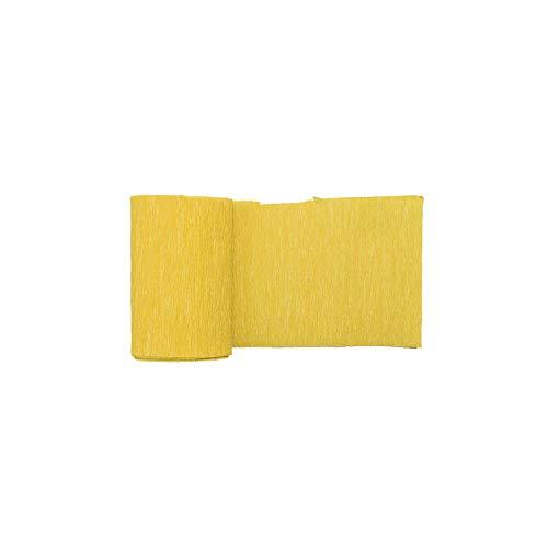 250 * 10cm Origami Krepppapier DIY Fertigkeit Wrinkled Papierrolle für Hochzeitsfest-Dekoration-Blumen Einwickeln Geschenke Verpackungsmaterial, F16 Goldgelb