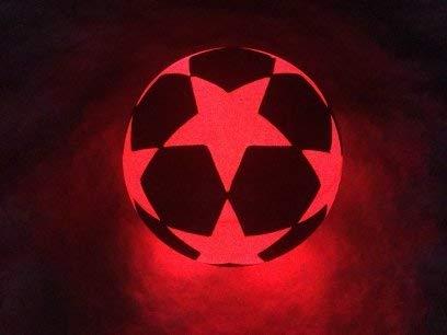 Leuchtfussball NIGHT KICK LED STAR-W - der brandneue Champion der Leuchtfussbälle-limitierte 2018er White Edition! (Dark Fussball Glow In The)