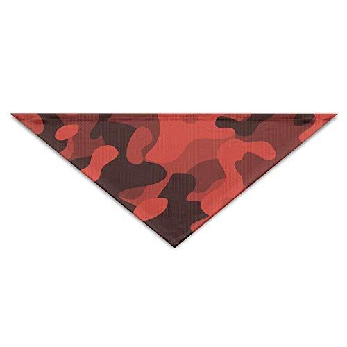 Gxdchfj Black Red Camo Pattern Pet Dog Cat Puppy Bandana Triangle Head Scarfs Accessories (Dog Name Tag-camo)