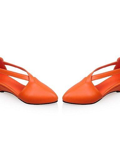 UWSZZ IL Sandali eleganti comfort Scarpe Donna-Sandali-Tempo libero / Ufficio e lavoro / Formale-Zeppe / Comoda / A punta-Zeppa-Vernice-Blu / Rosso / Beige / Arancione Orange
