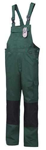 Latzhose Arbeitslatzhose Arbeitshose Arbeitskleidung CORDURA 100% Baumwolle 290G Grün Schwarz A38 (52)