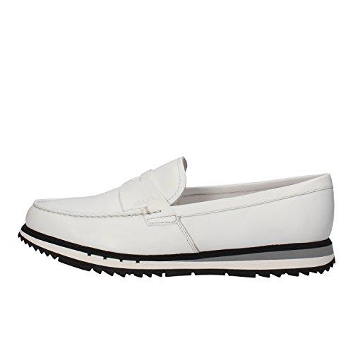 scarpe uomo PRADA 40 mocassini pelle bianco AW542