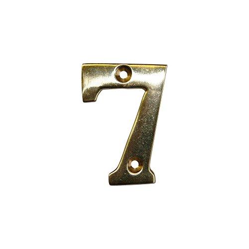 novap–Zahl Messing Numero 7–Höhe 51mm