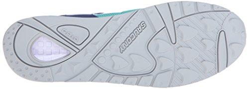 Saucony Grid 9000, Pompes à plateforme plate mixte adulte Bleu - Blu (Navy/Green)