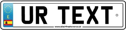 AAF Ambientador De Coche Personalizado SPAIN NUMBERPLATE