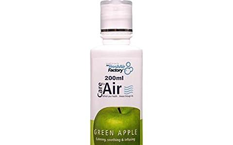 POUR AIR PURIFICATEURS - CareforAir Pomme Verte Essence 200 mL - Clean, croquante Et rafraîchissante parfum fruité -détente et Calmant - Aide À Soulager maux de tête et Migraine - UTILISER DANS vivificateurs d', IONISEURS, HUMIDIFICATEURS - 100% Produit Garantie De Satisfaction