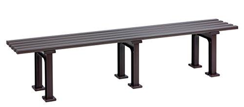 Sitzbank / Gartenbank 4-Sitzer: Mono, Länge 200cm, braun (hochwertiger Kunststoff, Parkbank Made in Germany)