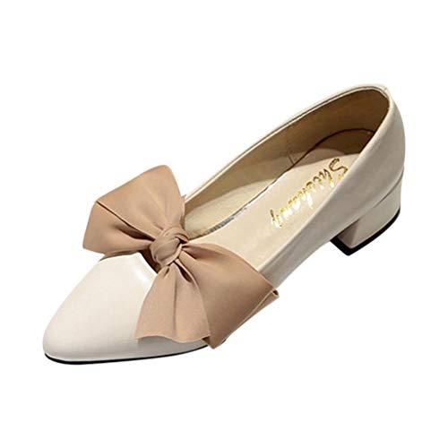 Damen Sandalen Damen Pumps Chunky Heels Pointed-Toe Single Schuhe Damen Sandaletten High Heels Pumps mit Blockabsatz
