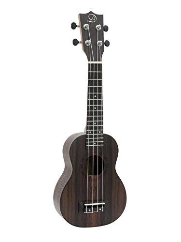 Sopran Ukulele UGWAI aus Palisander, dunkelbraun - 4-saitige Hawaiigitarre / kleine Gitarre aus Rosewood - klangbeisser