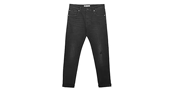 a5998486 Zara Men's Ripped Carrot fit Jeans 7223/461: Amazon.co.uk: Clothing