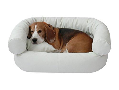 Artur soja fergus - divano per cani in ecopelle, 50 x 70 cm, bianco