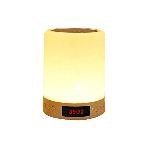 shifan Wake Up Light Elfeland Radiowecker Led Nachttischlampe Touch Control Nachtlicht Ideal für Schlafzimmer Geschenk,Color-OneSize
