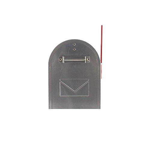Rottner Briefkasten Mailbox ALU in Silber US Standardgröße, Postkasten