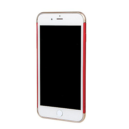 """xhorizon TM FM8 3 in 1 Ultra Thin Hard Protective Stylish Case Case for iPhone 7 Plus [5.5""""] with 360 Degree Rotating Ring Kickstand with a 9H Tempered Glass Film Rote"""