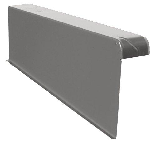 Windschutz-Ortgänge Ortgang Ortgangblech Aluminium 6/16 + Schraube (links, E-Dunkelgrau)