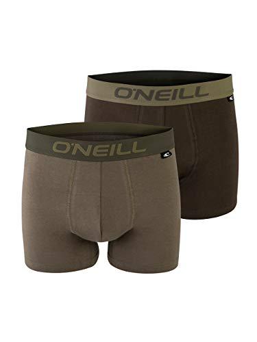 O'Neill Herren Fashion Boxer-Shorts | Stylische Farben für jeden Anlass im 2er Set | Khaki M