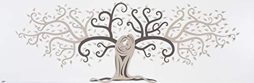 Quadro capezzale albero della vita 150x50 sacra famiglia moderna per camera da letto