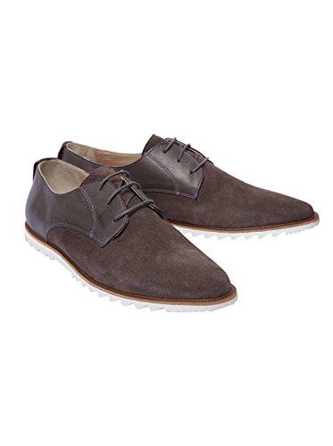 NOBRAND Herren Schuhe Schnürer Schnürschuhe Schnürhalbschuhe - Baumwolle - grau ash 45