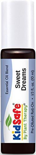 Plant Therapy KidSafe Sweet Dreams Synergy Pre-Diluted Roll-On 10mL (1/3 oz) 100% Pure, Therapeutic Grade - Rock Rose Dropper