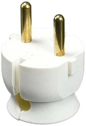 Legrand LEG50183 Fiche extra plate sans terre sortie latérale 16 A Blanc