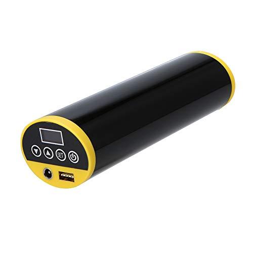 Lixada Luftpumpe, Tragbar Elektrische Fahrrad Pumpe Elektrischer Kompressor Mini Reifenpumpe I50PSI für Auto Fahrrad Motorrad