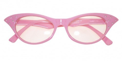 Glasses. 50s Female Style Pink Accessory Fancy Dress