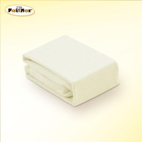 FabiMax 2649 Frottee Spannbettlaken für Beistellbett und Wiege, 90 x 55 cm, creme