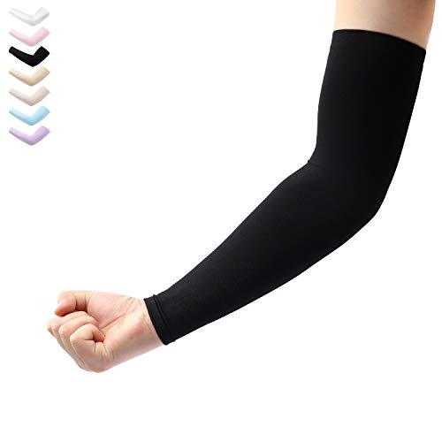 5ba60da0b5 Arm Sleeves 1 Pair Cooling UV Protection, Compression Sleeves to Cover Arms  Women Men,