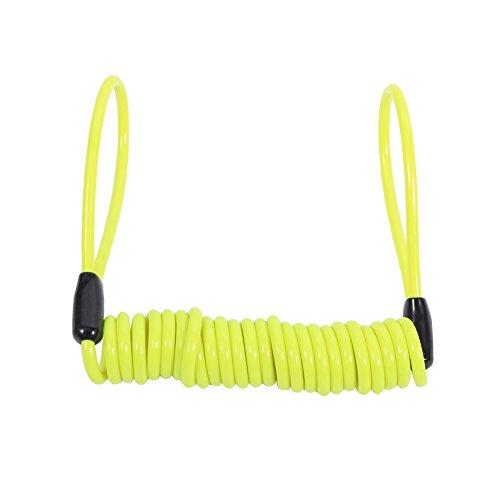 VGEBY Feder Schloss Diebstahlschutz Spring Reminder Coil Kabel für Motorrad Fahrrad ( Farbe : Gelb )