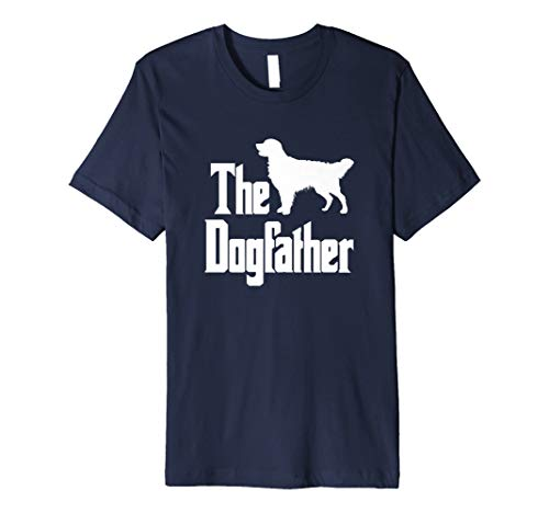 The Dogfather T-Shirt Golden Retriever Silhouette, Hund -