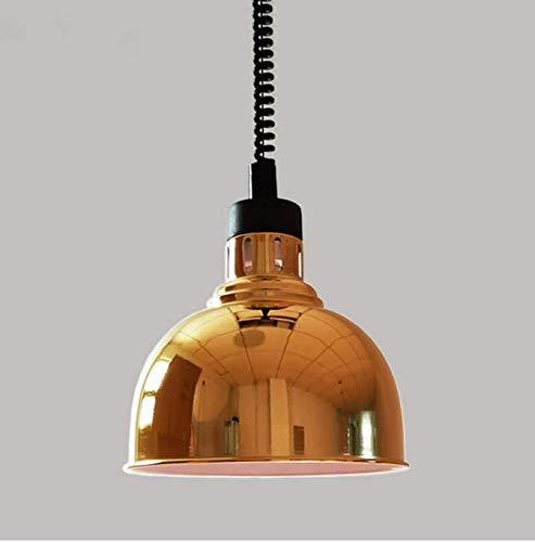 chter Mode Metall Schachzimmer Buffet Lebensmittel Wärme Lampe E27 250 Watt Einzigen Kopf Beleuchtung 25 Cm,   Gold ()