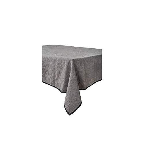 Harmony - Nappe en lin lavé Letia - 100% lin stone wash - Granit - 170x250cm