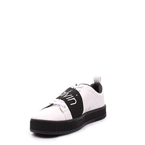 Calvin Uomo Sneaker Klein Klein Nappa Bianco Milton Elastic Calvin Milton Smooth r7zqrUw