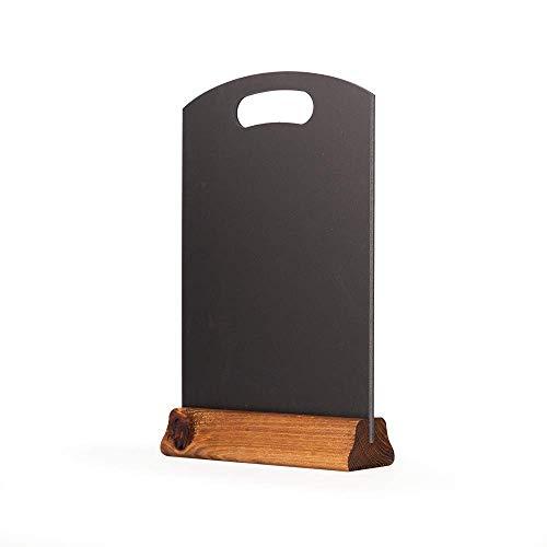 PDA Tischplatte Tafel mit Sockel, (H: 297mm x W: 210mm), Holz, schwarz, 32x 21x 4cm ()