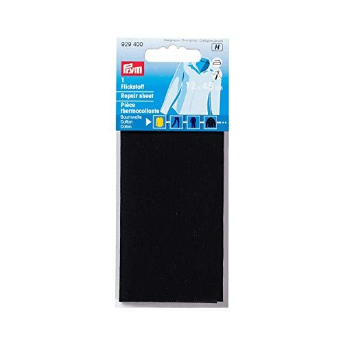 Prym CO (zum aufbügeln) 12 x 45 cm, schwarz Flickstoff, Cotton