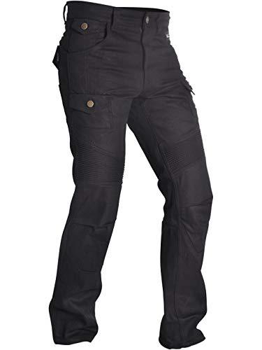 Oxford SP-j4 Textil Carga Aramida Pantalones Moteros - Negro Largo - Negro, 30 / Corto