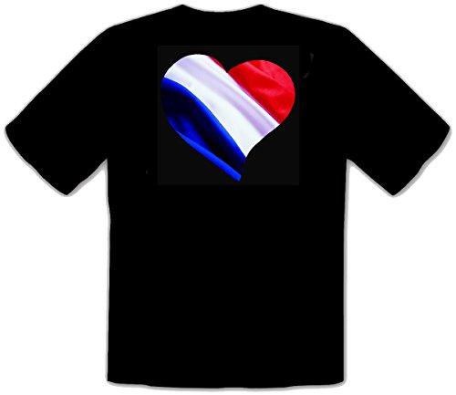 Holland Niederlande Niederlage Flagge Fahne in Herz Fun T-Shirt (M)